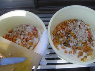 手作り酵素秋・野菜を刻む