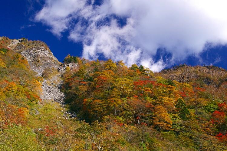 秋染まる大谷崩 4