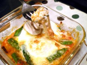 モッツァレラチーズ入り目玉焼き