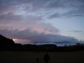 11・19 夕暮れの富士