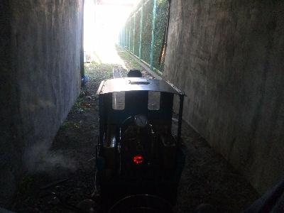 トンネル進行中