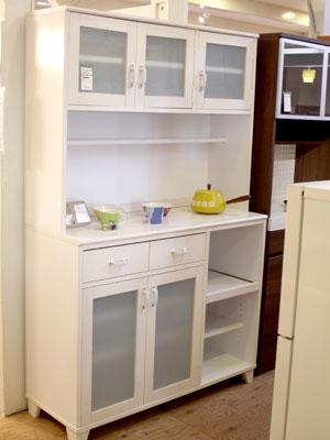 モモナチュラル カップボード 食器棚