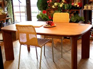 チーク材 ダイニングテーブル 北欧スタイル