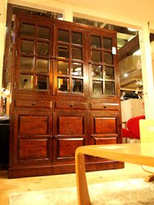 〈松本民芸家具〉G-Ⅲ型 面取りガラス 食器棚