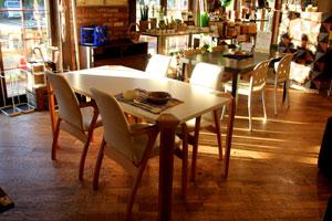 天童木工 ダイニング5点セット テーブル&アームチェア4脚 ナラ柾目