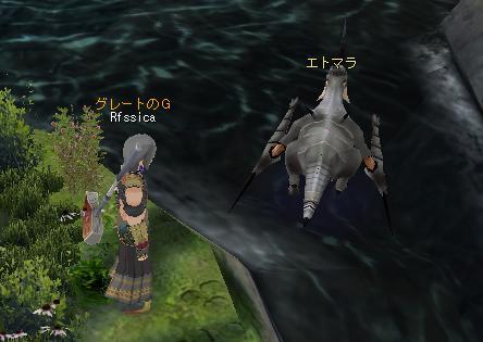 ファームで壁や湖の中にモンスターが侵入