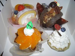 私の買ったケーキ