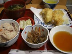 たこ飯と穴子天定食