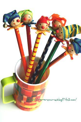 clown pencils
