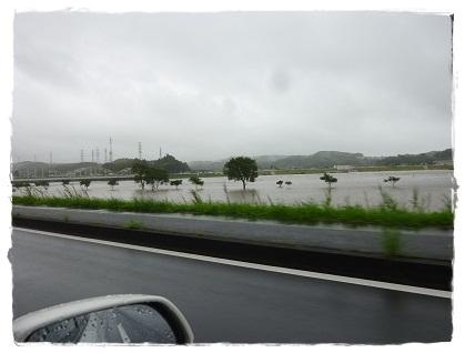 台風15号(河川敷ゴルフ場)