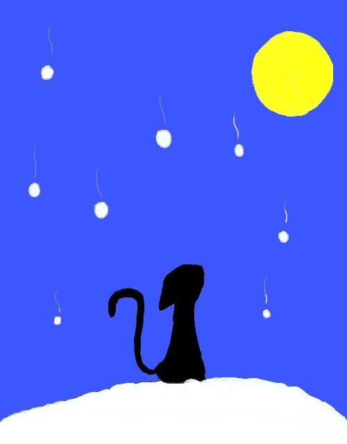 雪と月と猫