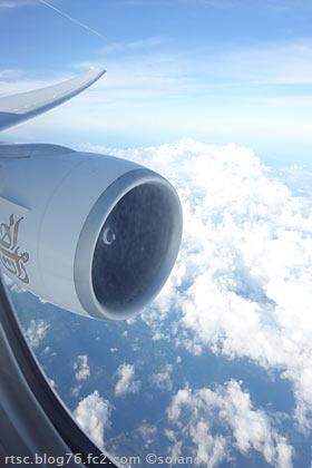 エミレーツ航空、機内からの眺め
