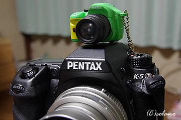 ペンタックスK-5とK-xミニチュアマスコット