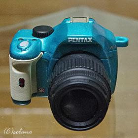 PENTAX K-xミニチュアマスコット1(ライトグリーン)