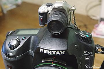 K10DとK-xミニチュアマスコット(シルバー)