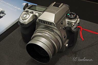ペンタックスK-7リミテッドシルバーとFA43mmリミテッド