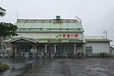 新旭川駅の木造駅舎