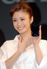 上戸彩_「ソフトバンクモバイル」の新商品発表会に登場した女優の上戸彩さん