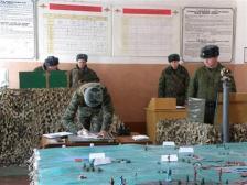 ロシア_日本を仮想敵として行われた図面演習(提供写真)
