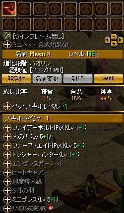 PhoeniXステータスin2009/12/25