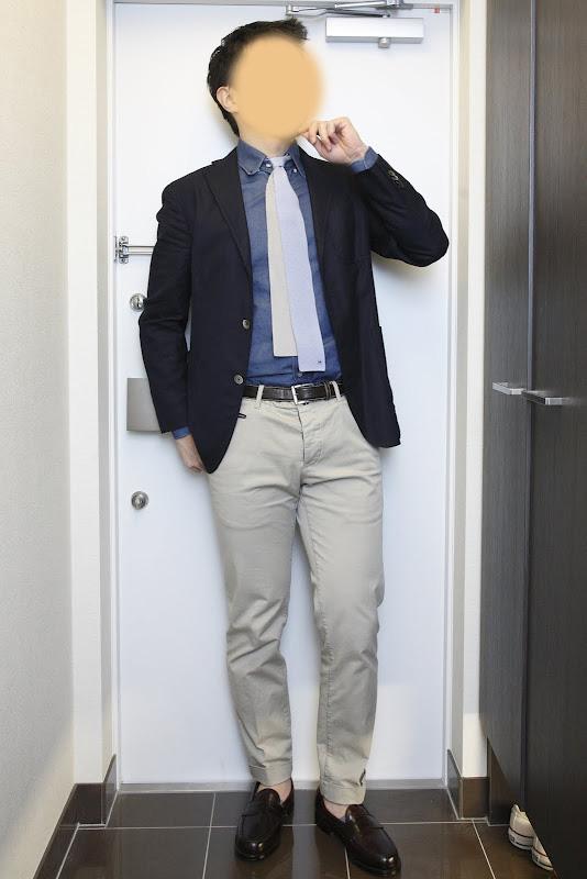 スタイル紹介:ブルーBDシャツ