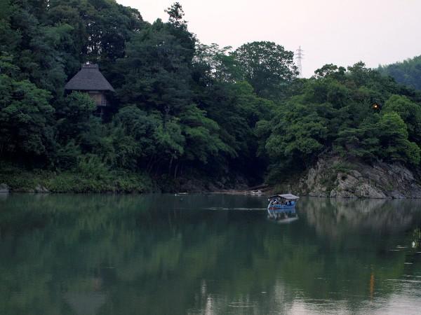 愛媛県大洲市大洲  肱川屋形船 散歩風景