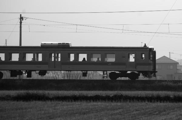 西条市石田 田園 ワンマン電車