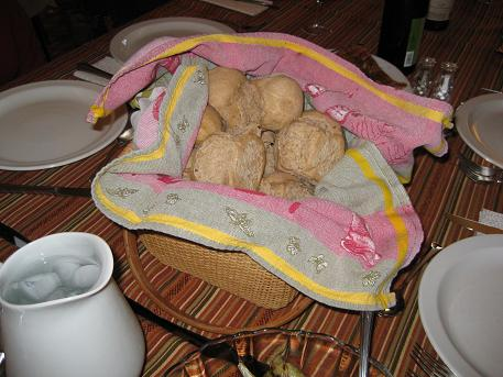 warm homemade bread