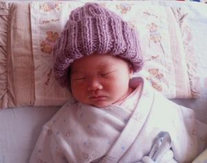 100222手編み帽子2