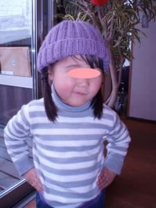 100222手編み帽子3