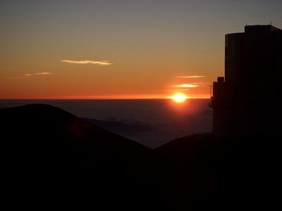 s-4200メートルの日没