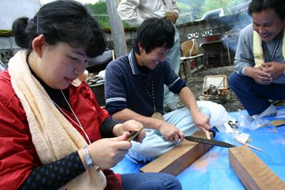 山茶摘み体験2011年110509f