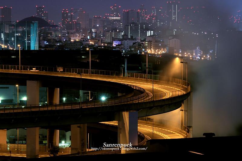 街灯のある風景atくるくる橋