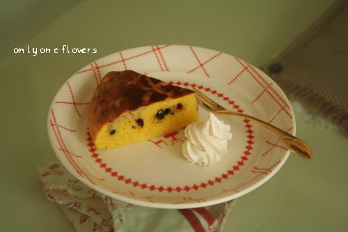 手作りっぽく 美味しく出来上がったケーキ☆