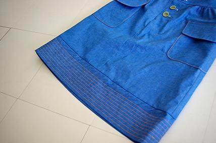 mplハイウエストスカート裾