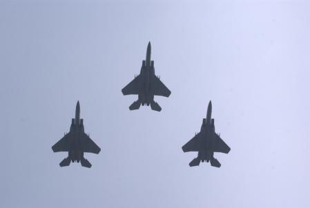 F-15Jフライパス。