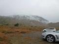 浄土平から見た真っ白な山