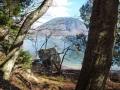 梵字岩からの男体山