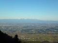 キャンプ場から見る日光連山
