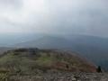 御霊柩峠と高旗山