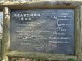 自然研究路の案内板