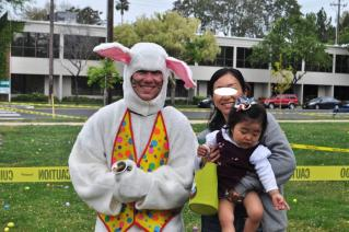 with Easter Bunny
