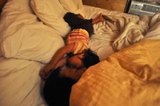 親子で爆睡