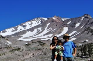 Mt Shastaでの家族写真