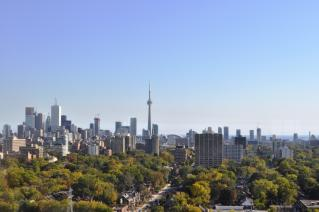 View of Toronto from a hill