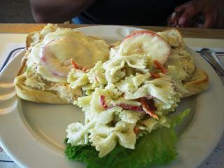 Crab meat sandwich