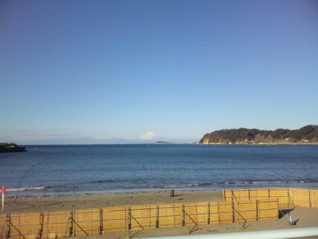 逗子海岸-富士山