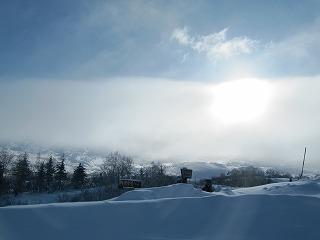 山に雲が・・・