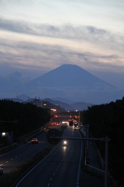 134号線と富士山