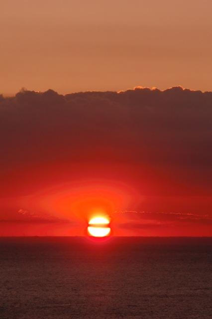 駿河湾に沈む夕日